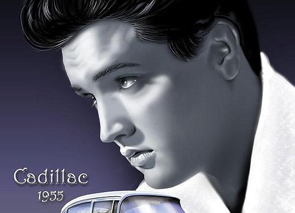 Elvis Cadillac 1955 (Metal Sign)