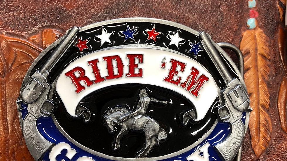 Ride 'em Cowboy Belt Buckle