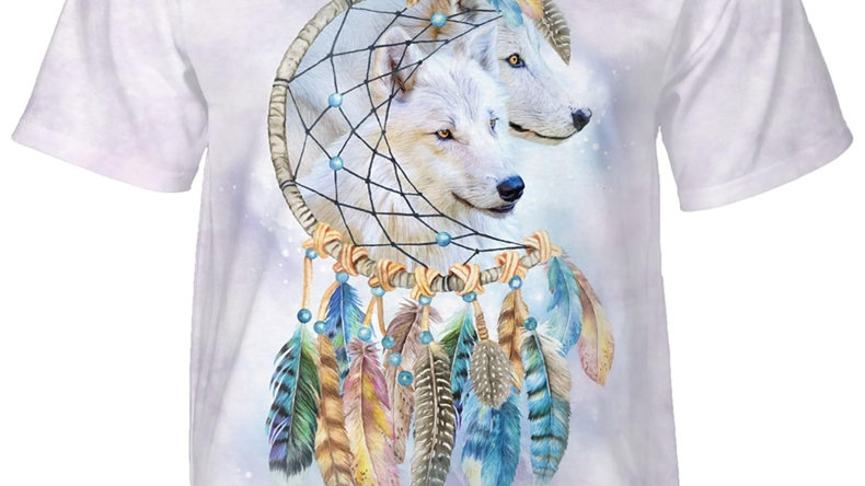 Wolf Dreams Native American Animal T-Shirt by The Mountain
