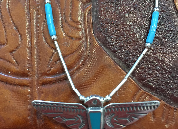 Silver pendant and chain