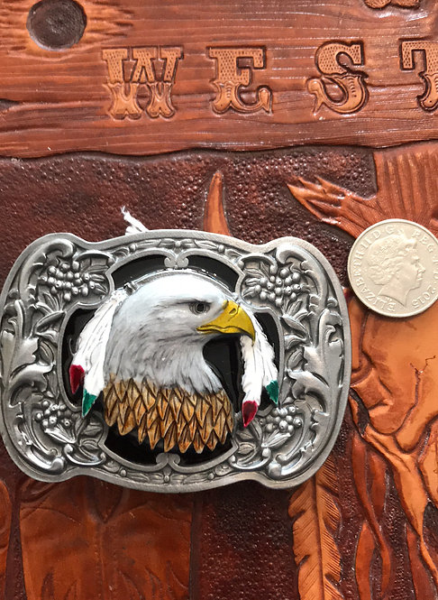 Eagle & feathers Belt Buckle