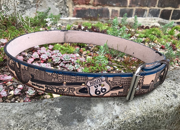 Route 66 Leather Belt