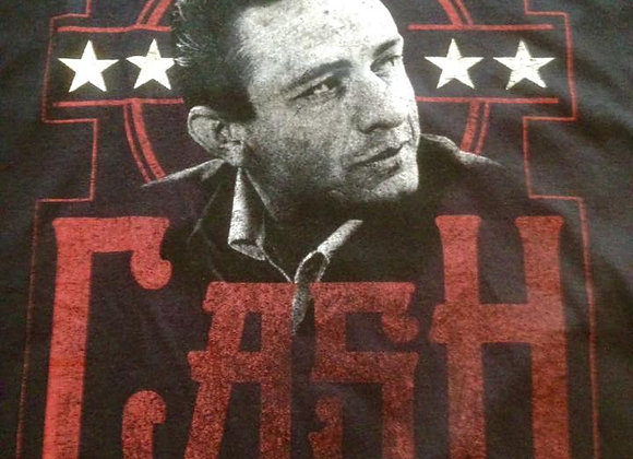 Johnny Cash Man in Black T Shirt