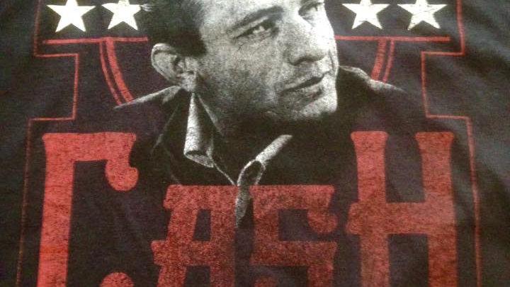 Johnny Cash Man in Black T Shirt