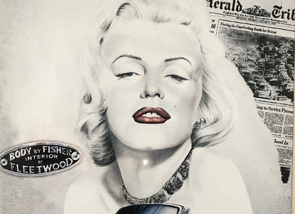 Marilyn Monroe Metal Sign