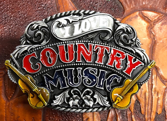 I love country Music 🎶 Belt Buckle