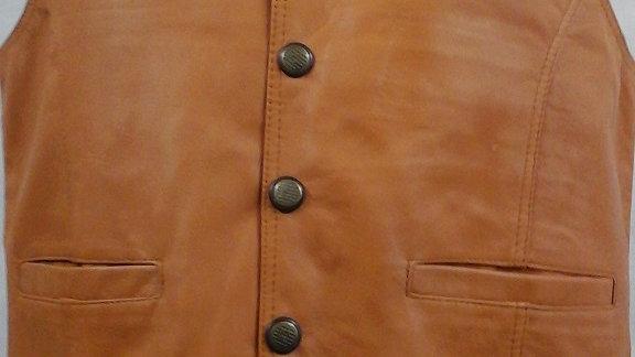 Waistcoat, soft tan leather
