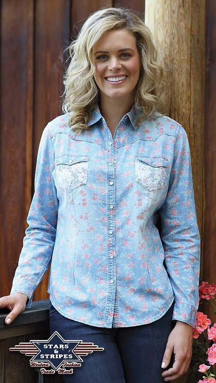 Ladies Long Sleeved Western Shirt  By Stars & Stripes