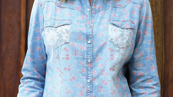 Ladies Long Sleeved Western Shirt  By Stars & Stripes