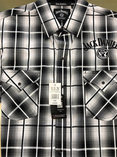 Jack Daniels S/Sleeved Plaid Western Shirt   JSS8