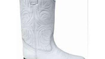 Leather White Santa Fe Cowboy Boots 200w