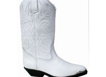 Leather White Santa Fe Cowboy Boots 200w