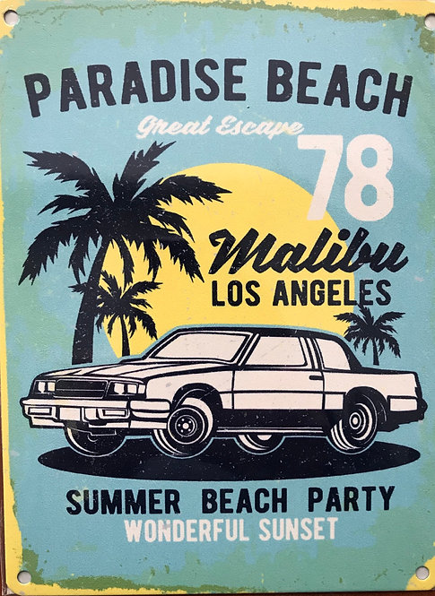 Metal Sign - Paradise Beach