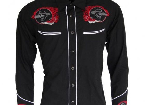 Western Skull Shirt      RE01