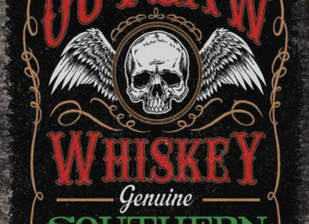 Outlaw Whiskey (Metal Sign)