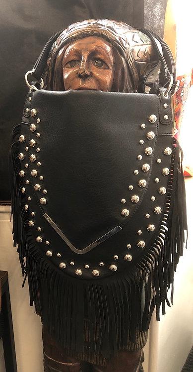 Womens Fringe Tassel Faux Leather Cross Body Ladies Messenger Shoulder Bag