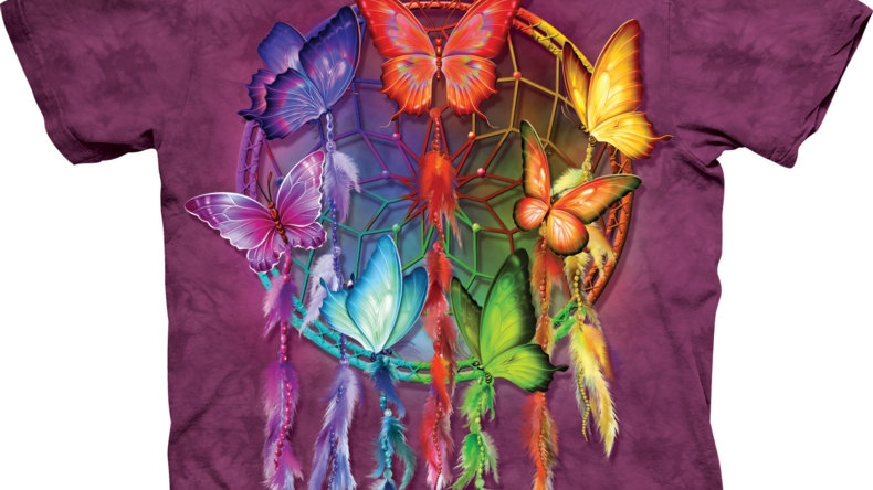 Rainbow Butterfly T-Shirt by 'The Mountain'