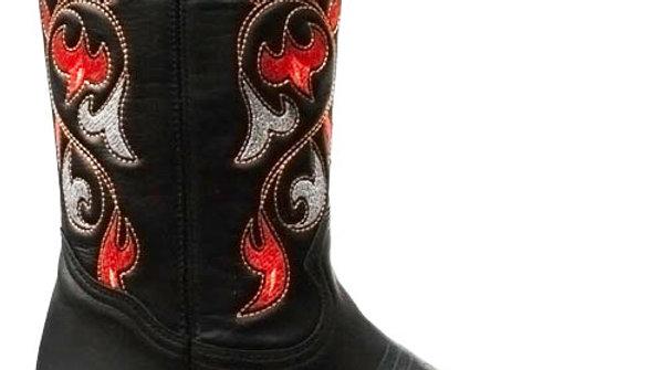 Ladies Santa Fe Cowboy Boots Navajo Red
