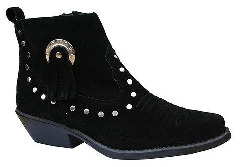 13484 Santa Fe Black Suede Ankle  Boot  AS01B