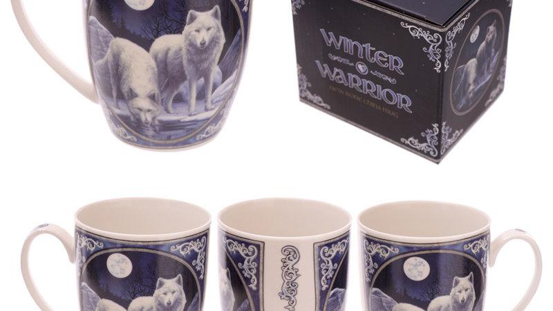 Beautiful Winter wolf mug
