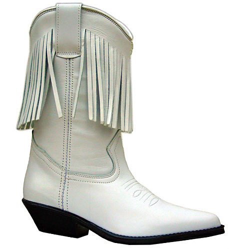 Santa Fe Cowboy Boots 7500 White Leather