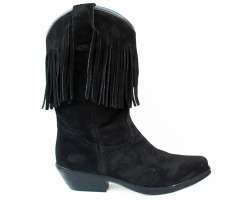 Suede Fringed Cowgirl Boots 7500 7500SB