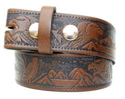 Leather Snap Eagle belt (BE002)