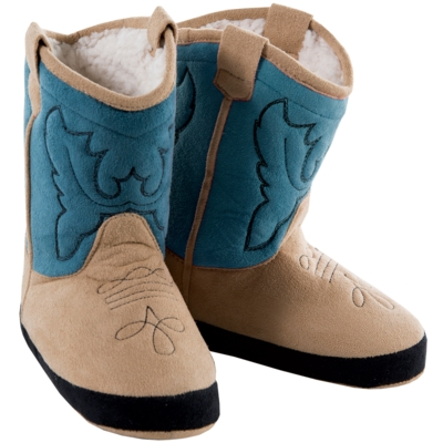 Cowboy Slippers  BLUE ADULTS