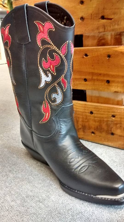 Ladies Santa Fe Cowboy Boots Navajo Red
