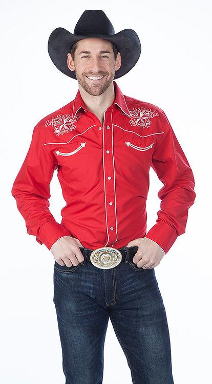 Classic Western Retro Star Shirt Red