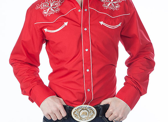 Classic Western Retro Star Shirt Red