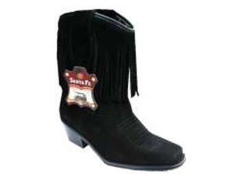 Santa Fe Suede Tassle Boots 7200 Chisel toe