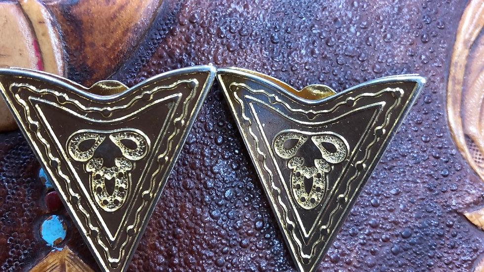 Collar tips - metal gold coloured