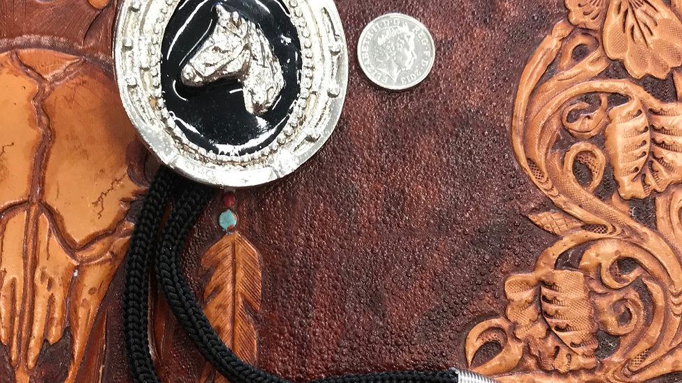 Horse head & Horseshoe Bolo Tie