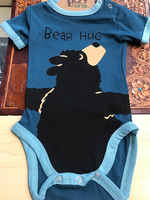 Lazy one Bear Hug Baby Vest