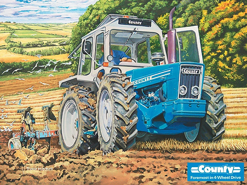 Blue Tractor (Metal Sign)