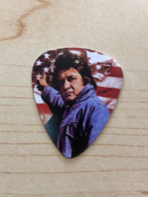 Johnny Cash Metal guitar pick