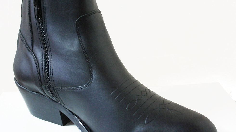 Santa Fe Leather Ankle Boots with zip          9193B