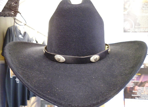 Black Leather hat band  Sso6