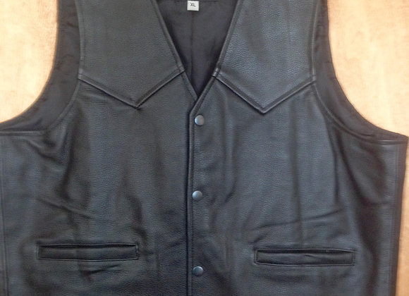 Heavy Weight Leather Waistcoat  SKC01