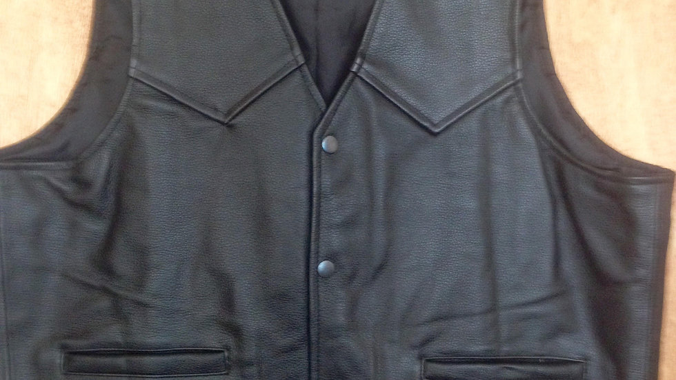 Heavy Weight Leather Waistcoat  SKC01