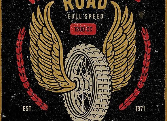 Wings of the Road (Metal Sign)