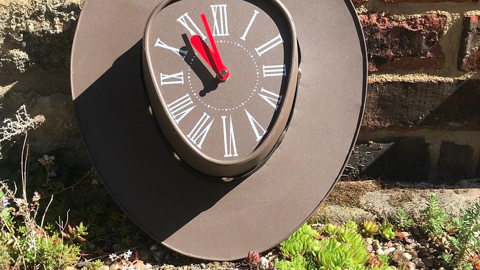 Metal Cowboy Hat Clock