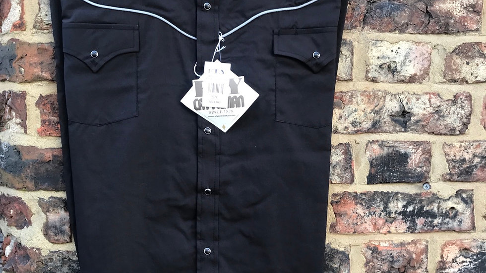 Ely western shirt with embroidered steer    E10