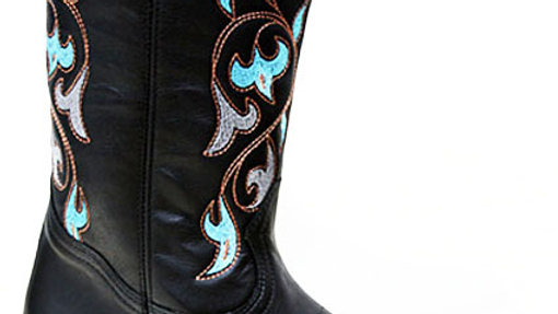 Sante Fe Leather Navajo Embroidered Cowboy Boot