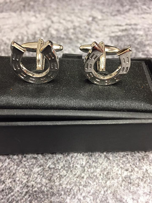 Cuff links, Horse shoe