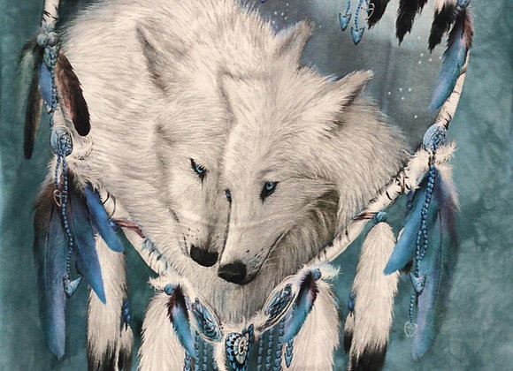 Wolves in dream catcher by Mountain M15