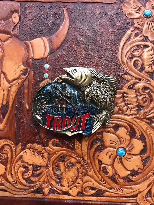 Trout belt buckle (BU29)