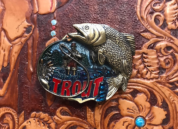 Trout Fish Belt Buckle (BU29)