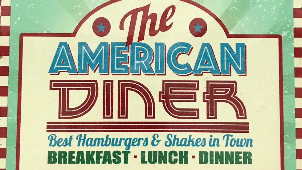 American Diner Metal Sign